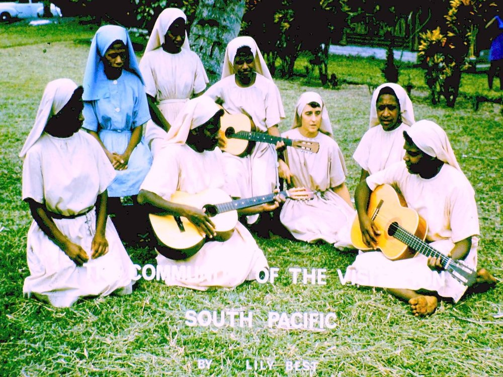 Sister Valmai, with CV Sisters, in the 1970s.