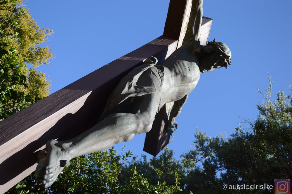 Sit at the foot of the cross