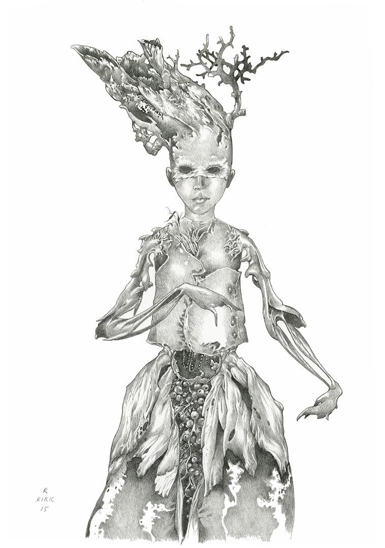 "Petal   2015, graphite on paper, 10"" x 7"""