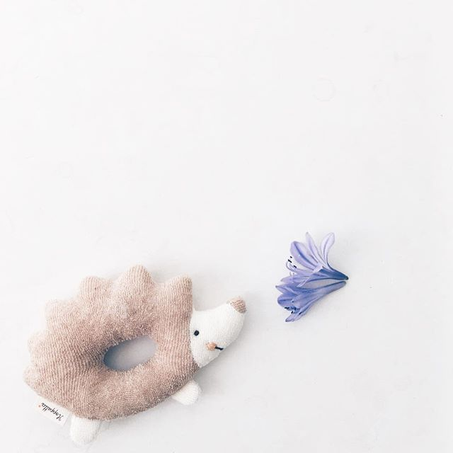 We've been a little silent for a while as we stopped and smelled the flowers, but new goods on the way! // Organic Hedghog Rattle. #japanmade