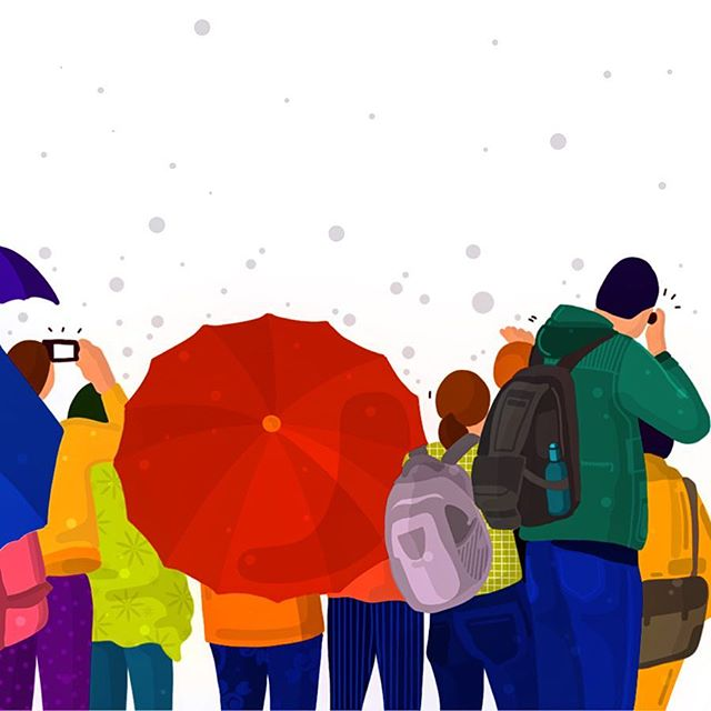 Red umbrella!! #rains #illustration #newyork #graphicdesign #womenwhoillustrated #webillustration #ui #ux