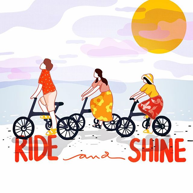 Ride and Shine!! #illustration #biking #women #lovefordesign #design #graphicdesign #art #newyork