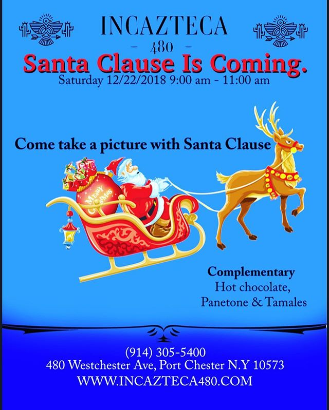 Come take a picture with Santa Clause.  #santa #santaclaus #santapictures #food #peruvianfood #mexicanfood #portchesterny #westchesterny #ryeny #holidaymood