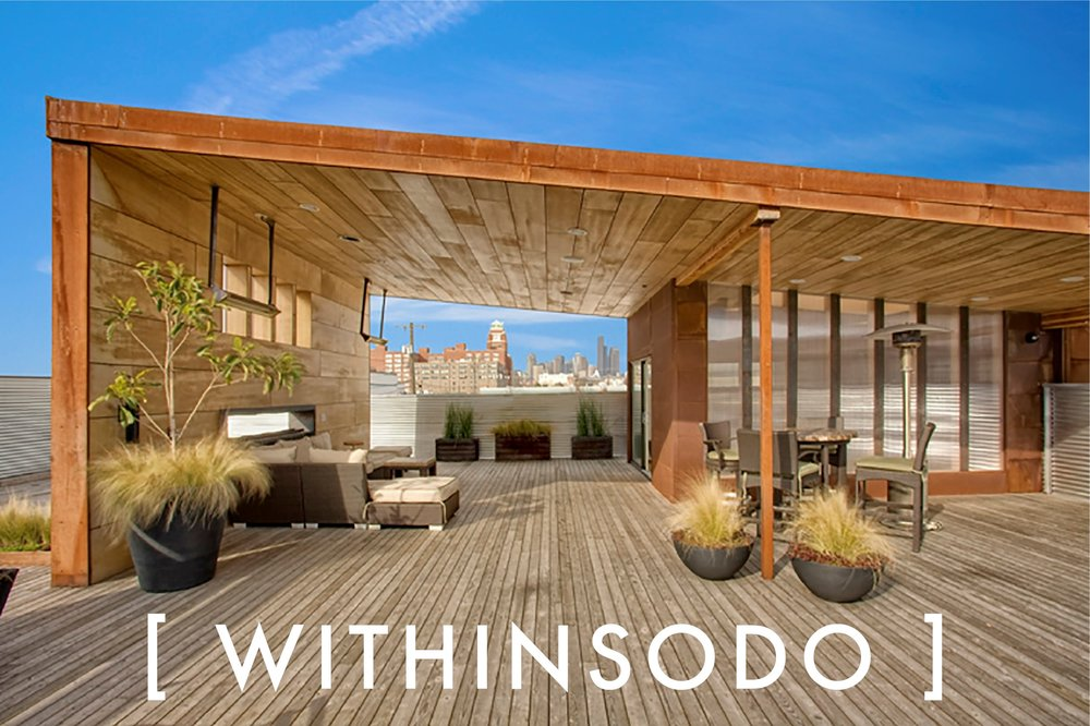 WithinSodo   206-317-4345   EMAIL   WithinSodo is a beautifully-renovated warehouse in the SoDo district of Seattle with 5 event spaces: the Lobby, the Gallery, the Lounge, the Ballroom & the Rooftop Deck. These 5 spaces when combined include an incredible partially-covered rooftop deck with a spectacular view of downtown, a full commercial / catering kitchen, an A/V System with HD projector, 16-foot screen, 3+ full bar areas, 5 restrooms, a VIP / green room / bridal suite, Wi-Fi, & ample free parking.