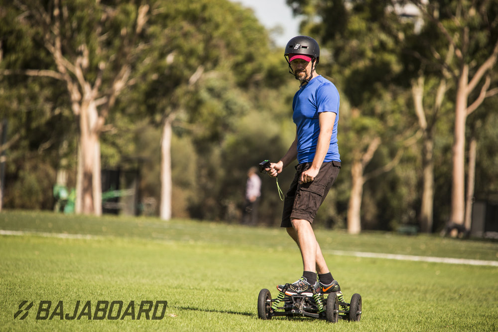 Don't stick to the track if you don't want, this board can easily take on some off-road madness