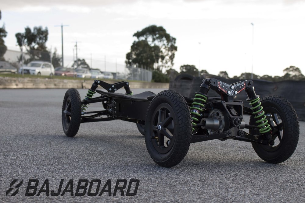 Sitting on the track, our BajaBoard looks like a beast. How fast will you ride?