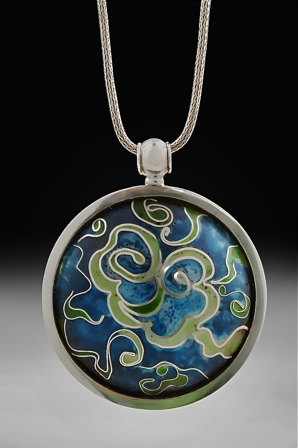 Swirls and Eddies Pendant