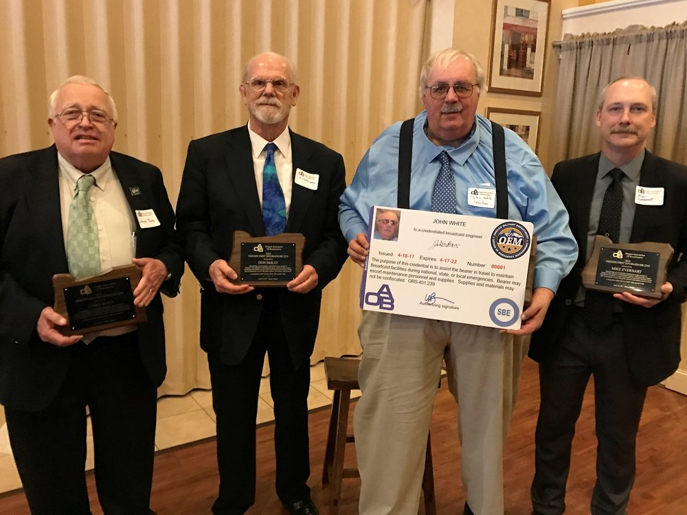 The SBE Team that negotiated the First Informer training/credentialing standards included (L-R) James Boyd, Don McKay, John White and Mike Everhart.  Everett Helm is not pictured.