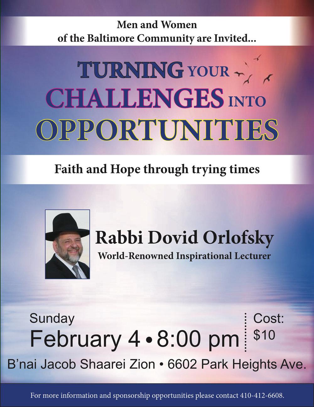 Events | Rabbi Dovid Orlofsky's Official Website