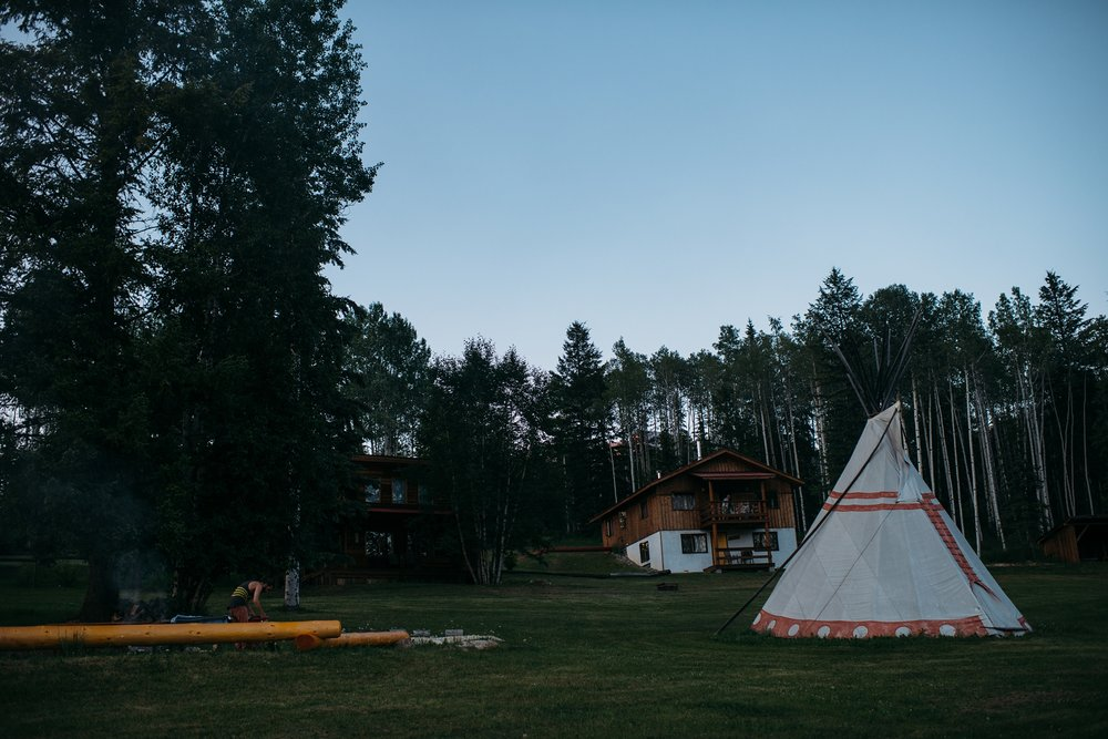 "A month prior to our wedding, we booked in at Goldenwood Lodge and spent two nights out there for ourselves so that we got to experience what our guests were going to experience throughout their stay in the teepee camp. We had also only seen the ""venue"" once before in the wintertime, so this was a great way to see what it looked like in the summer as well."