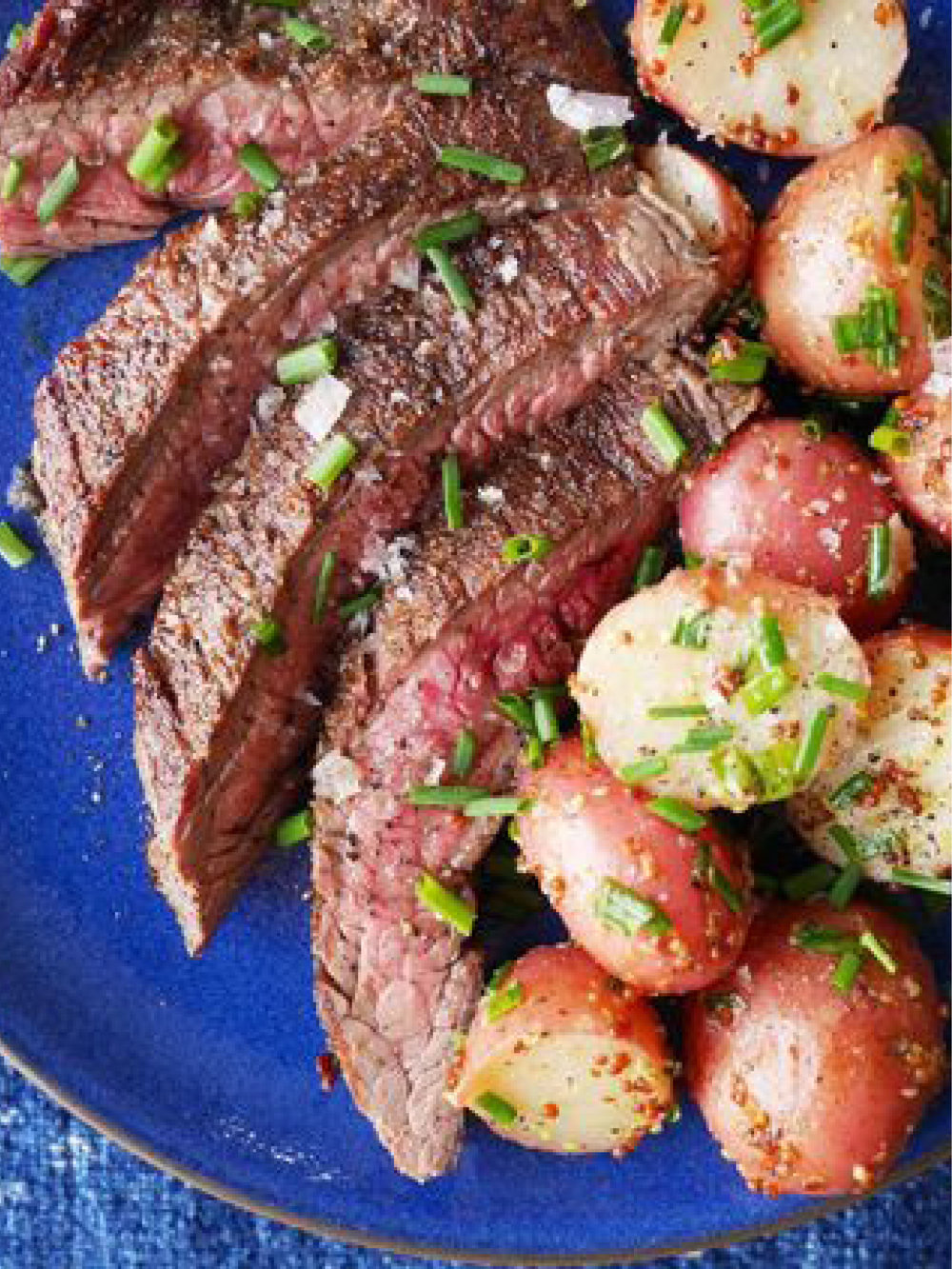 Grilled Flank Steak with Mustardy Potato Salad  Delish