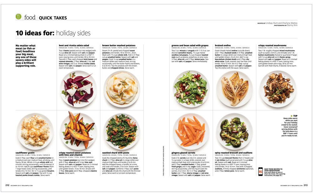 10 Ideas For: Holiday Sides  Real Simple