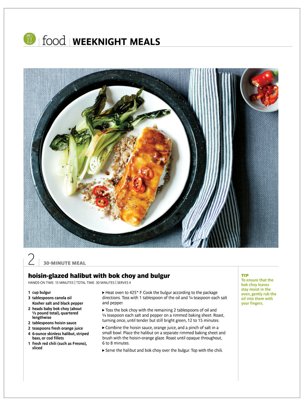 Five Easy Dinners  Real Simple