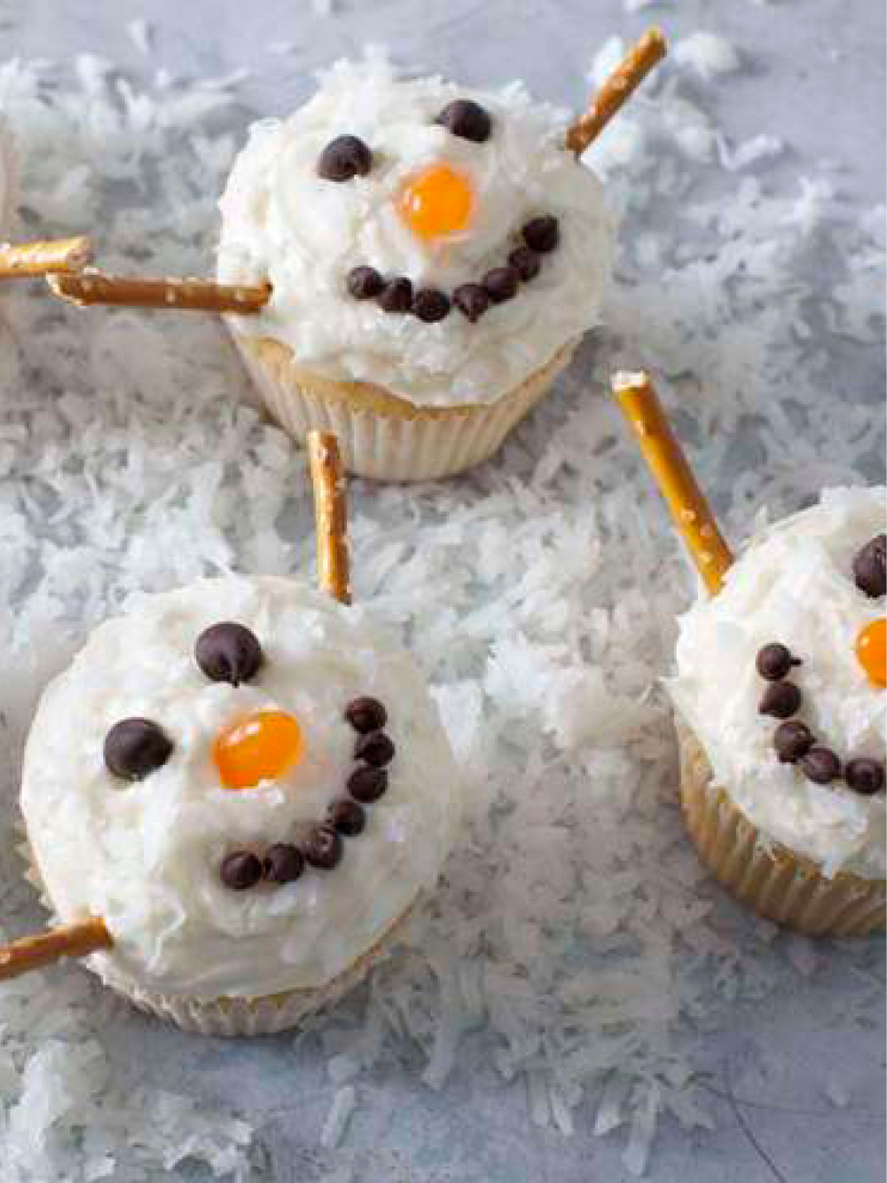 Jolly Snowman Cupcakes  Real Simple