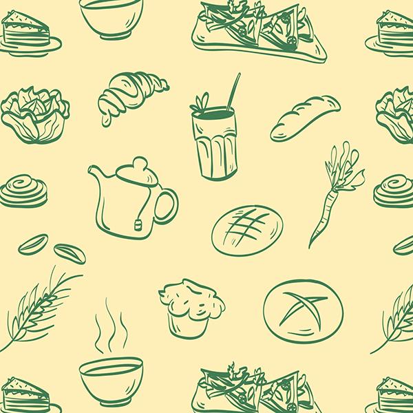 Ilustración para Le Pain Quotidien Argentina. La misma fue diseñada para ser aplicada en cuadernos artesanales.