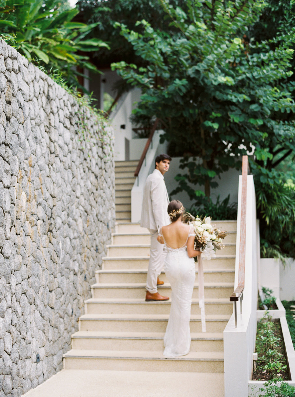 Bride and groom in Phuket for a luxury wedding