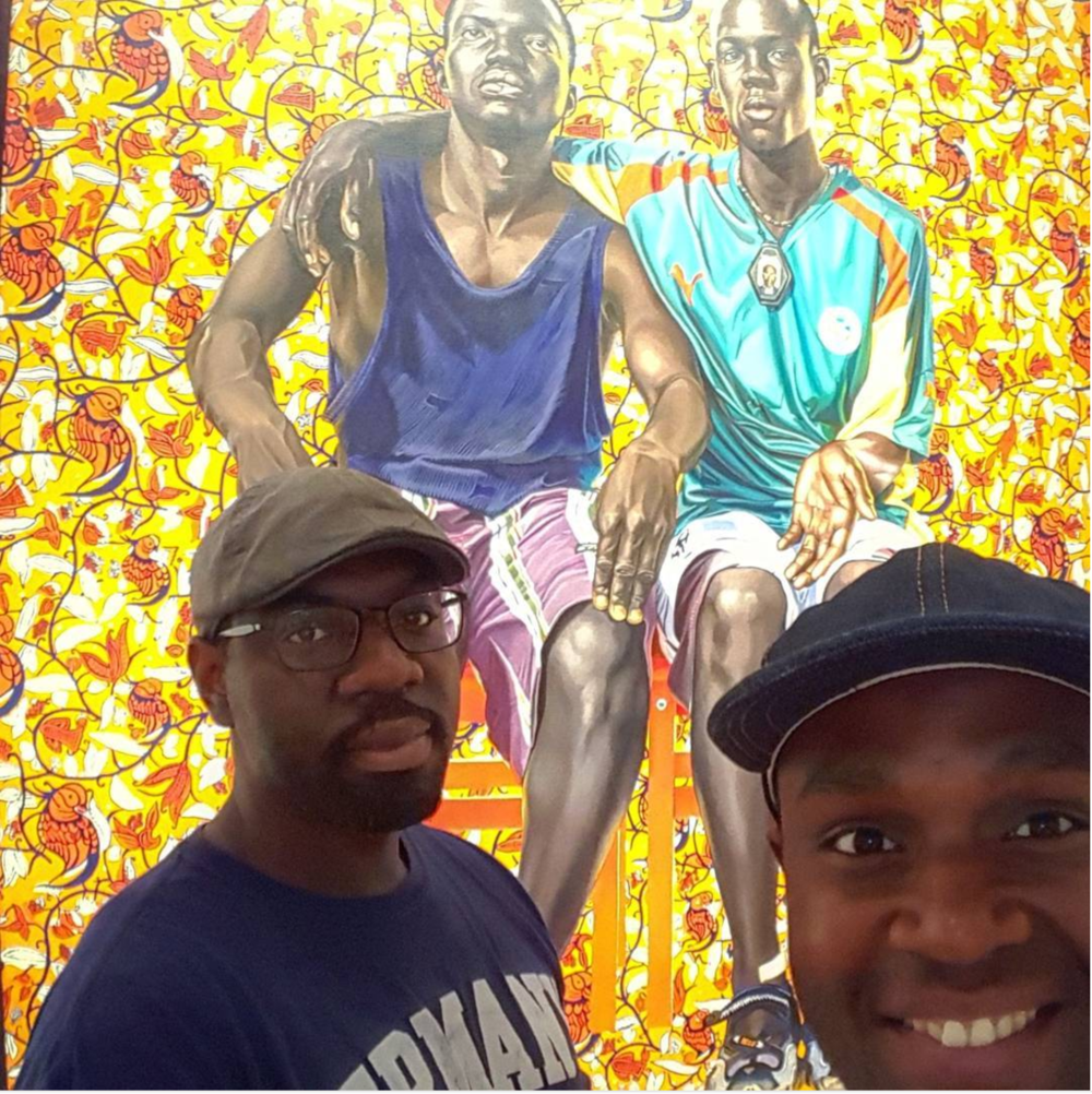 Photo  @jtbeezwax  in front of  Kehinde Wiley  at the  V  irginia Museum of Fine Arts . Check out Jermaine's Creative Unions Highlight blog  here !