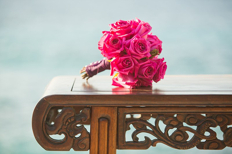 "Image from  OffBeat Bride:   ""A stunning Jamaican wedding shoot with a ganja rolling station"""