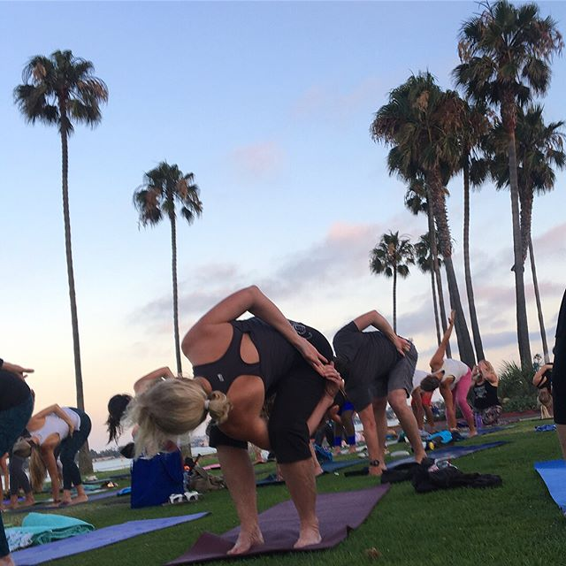 Had a great time at the Yoga for Good event with the squad last night! There's nothing better than sunset yoga in a beautiful place with good friends- and all for a great cause. . @womenwineandyoga organized this event to benefit @og.yoga, which brings yoga to underserved and disadvantaged populations so that everyone can have access to the healing benefits of yoga practice. . If you missed this event, there's another Yoga for Good on August 18th, also at The Point on Mission Bay, from 7-10 pm. There will be sunset yoga, live music, vendors, food, wine, and more! And yes- men are welcome, so grab your girls and your guys and join us! (Go to @womenwineandyoga and click the link for tickets)