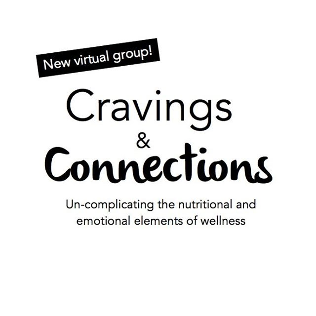Do you struggle with cravings, emotional eating, and a complicated relationship with food and/or your body? Would you like to connect with other women as we uncomplicate things together, and learn what it actually means to listen to your body? Would you like to accomplish this from the comfort of your own home? Cravings & Connections is now VIRTUAL! We are excited to be able to serve more women by bringing our group into the online space. . This virtual group will be held on Wednesday evenings via Zoom teleconferencing (audio and video), kicking off on March 28th, 2018 and will continue every week for 4 weeks, ending on April 18th. If interested, please email paleotherapists@gmail.com. Visit @paleotherapists and look for this same post for more detailed information about times and pricing. . Group content includes: . •Examining and reshaping the narrative around food and body image . •The psychology of eating and the physiology of digestion . •Why cravings happen, what they mean, and how to respond . •Understanding emotions and how stress impacts gut health . •Blood sugar balance as it relates to mood and cravings . •Mindful eating and how to listen to what your body needs . •Physical and emotional detoxification . *NOTE: This is a member group, not the practitioner-training group, which we are excited to announce very soon! 😊
