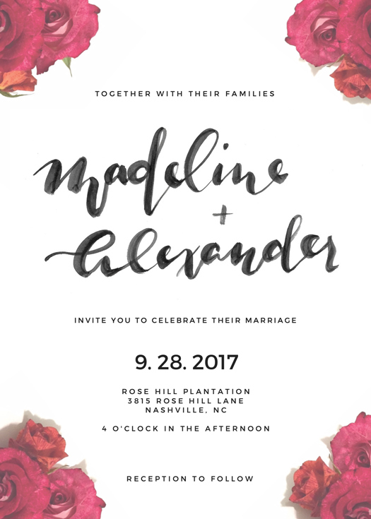Wedding Invitation Suite by Raleigh Calligraphy & Design