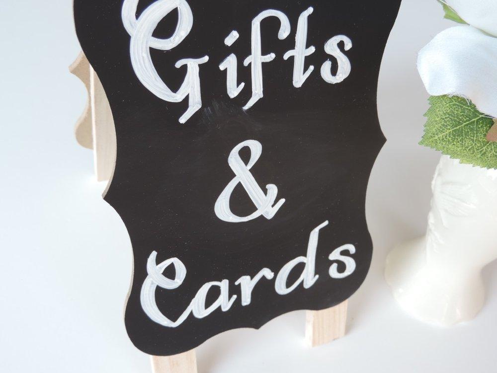 Chalkboard sign by Raleigh Calligraphy & Design