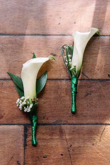 Grooms' boutonnieres. Floral design Nature's Bouquet. Photo Credit Shea Christine Photography