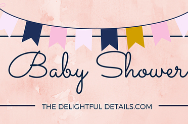 Celebrating all of life's delightful moments with this blush, navy and gold baby shower! Link in bio