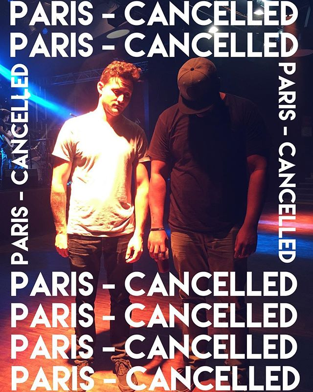 We're super bummed to announce that our PARIS show tomorrow has been cancelled! It wasn't our decision. We'll be back in the Paris area on Sunday 27/5 in Ris-Orangis at Le Plan. Come party with us y'all!
