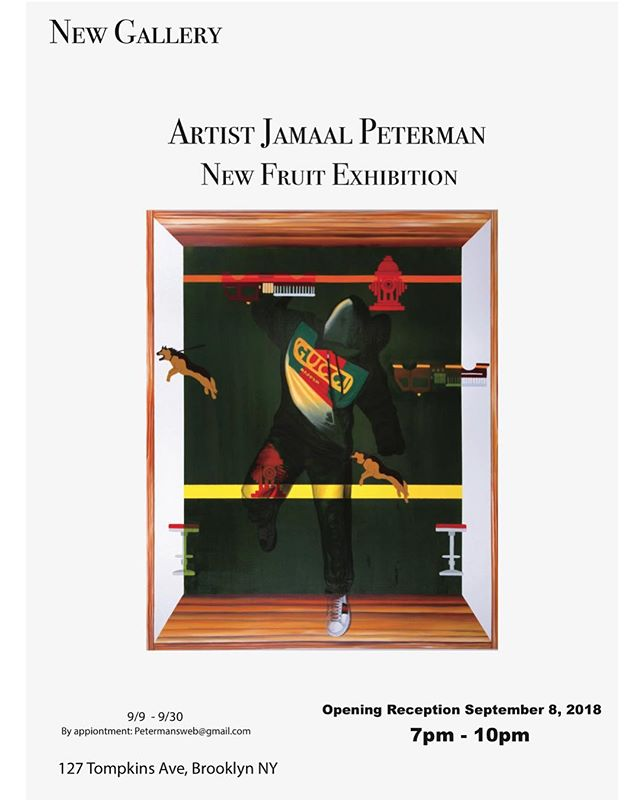 Solo exhibition, come check me out in Brooklyn at the New Gallery on September 8, 2018 at 127 Tompkins Ave, Brooklyn. 7pm-10pm. RSVP After Party. #art#painter#painting#newyorkartist #brooklynrail #abstract#realism#studiomuseum #residancy #blackexcellence #blackarts #drawing#gucci#dapperdan #hyperallergic #bric#smackmellon#skowheganschoolofpaintingandsculpture #prattinstitute #prattmfa #prattartistsleague