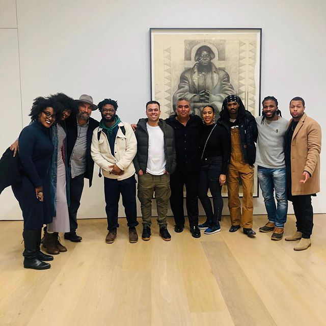 This one is for the culture, I had the opportunity to converse with Ian white, son of Charles White, and Roger Smith at the Charles White exhibition at David Zwirner Gallery. Black excellence at its finest. 📸: @dannylowgram  #charleswhite #davidzwirner #nyc#blackexcellence #MFA#prattinstitute #prattmfa #yale#yalemfa#sva#svamfa#artist#painting#drawing