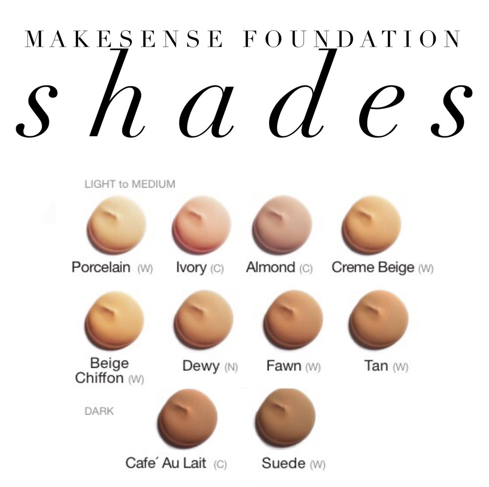 Original Foundation. - MakeSense Foundation® with SenePlex combines cosmetics with skin care to give you an impeccably flawless finish. Not sure which shade to get - our foundation adjusts 3 shades up & down to give you the perfect shade.MakeSense Foundation with SenePlex also provides and offers an unprecedented mechanical shield for protection throughout the day. The application of a MakeSense Foundation with SenePlex layered on top of any SeneDerm DayTime Moisturizer, gives your skin the bene ts of a mechanical shield by boosting the SPF 15 of the moisturizer, when combined with the MakeSense Foundation to that of a mechanical shield that delivers protection the equivalency of an SPF 30.MakeSense Foundation with SenePlex formulations is:Non-smearing, long-lasting coverage.Oil free–can be used on any skin type.Non-comedogenic–does not clog pores.Adapts to skin pigmentation–versatile in that one skin color may be able to use a range of up to three different shades (or vice-versa for tanning) because of the way the color pigments adapt to skin tones.Helps to reduce moisture loss.Provides another layer of SenePlex Complex.Water-resistant.