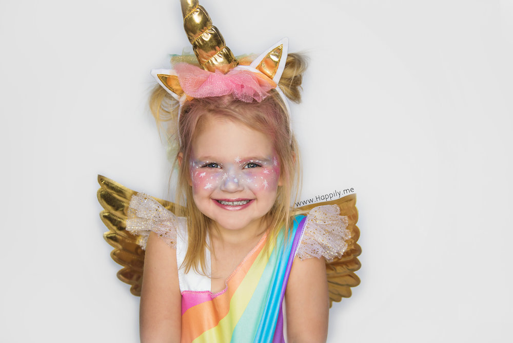 This is my spicy little 3rd born - Rhyan (like Ryan but with an 'h')! She is clearly a rainbow unicorn and worked her role like a boss!