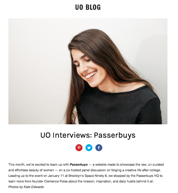 Passerbuys Urban Outfitters Interview