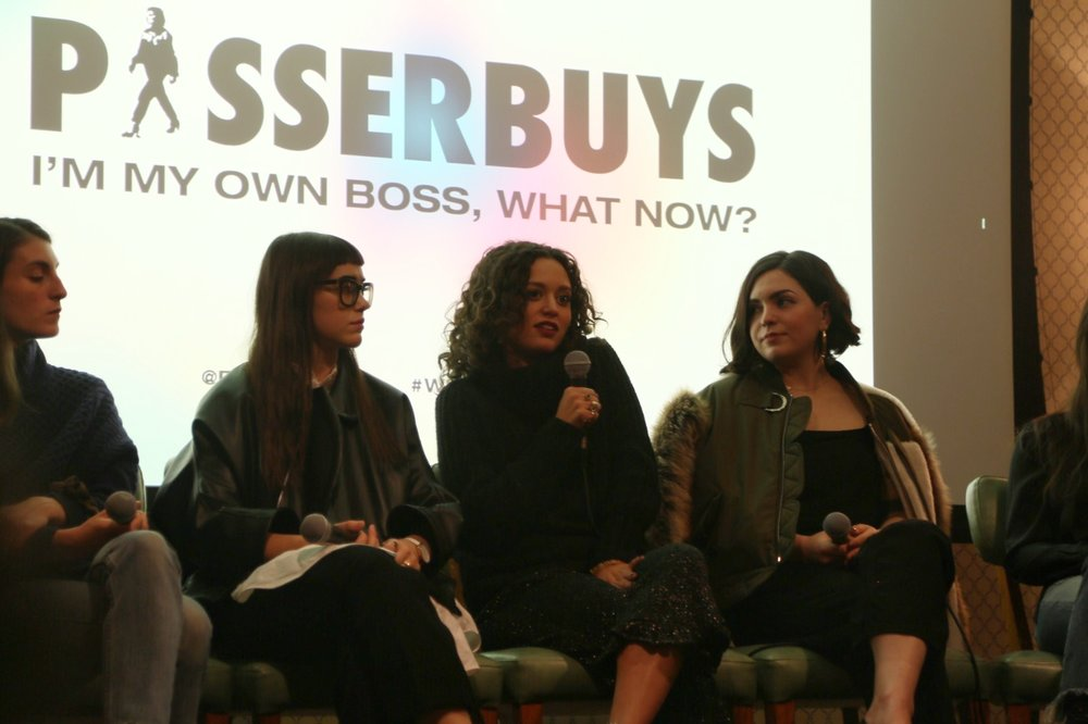 Panelists included accomplished business women Sabrina Diaz of Grassroots Juicery, Éva Goicochea of Tinker Watches and Maude, Abby Levin of Jam Jar Bakery, jewelry designer Laura Lombardi, Jenna Saraco of Local Creative, art director Leta Sobierajski, and Maggie Winter of AYR. The discussion was moderated by jewelry designer Susan Alexandra.