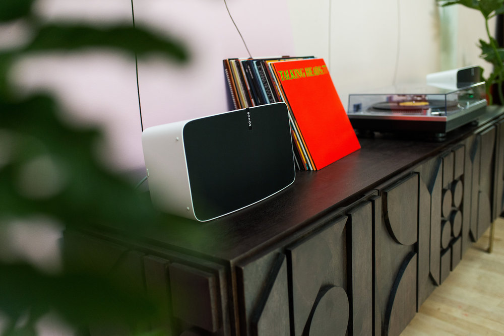Sonos Listening Room at The Passerbuys Lounge with records recommended by the women on Passerbuys