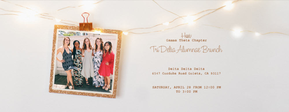 Join us on  Saturday, April 28th  for our annual Alumnae Brunch, where you can catch up with old friends and meet new ones!  Please RSVP by  Monday, April 16th  to Madison Judd at  ucsbdddalum@gmail.com . DLAM!