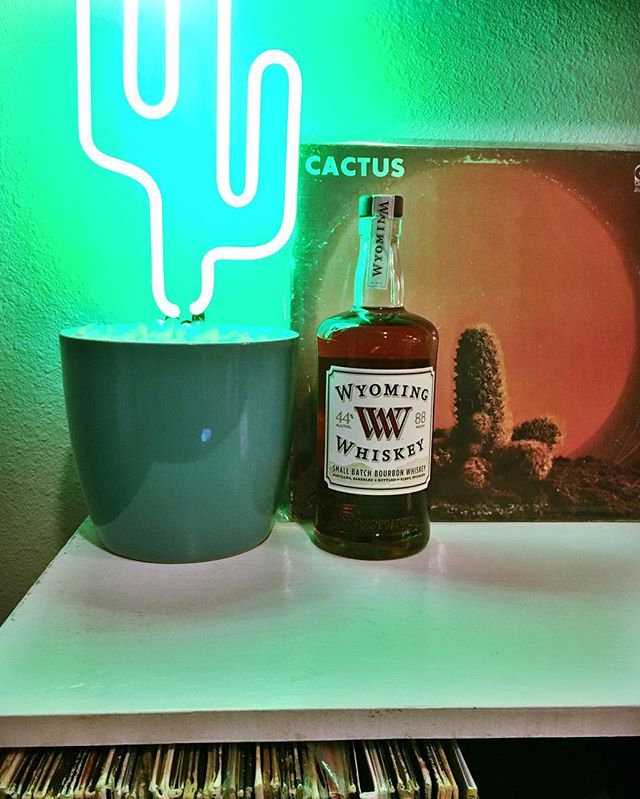 Bringin' in the new year right. Here's to 2017. Cheers y'all. #cactus #2017 #wyomingwhiskey