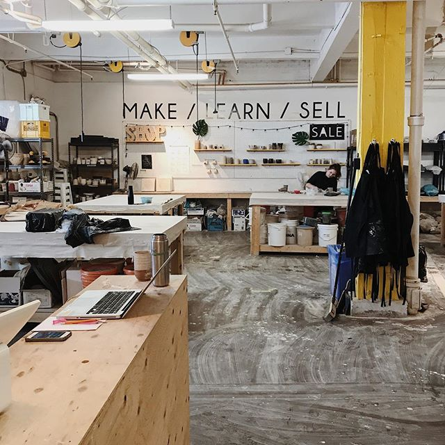 Throwing isn't as easy as it seems. Thank you @mima_ceramics for a great first one-on-one lesson at @theshoptoronto! I'm gonna go Moisturize everything now 🤙🏼