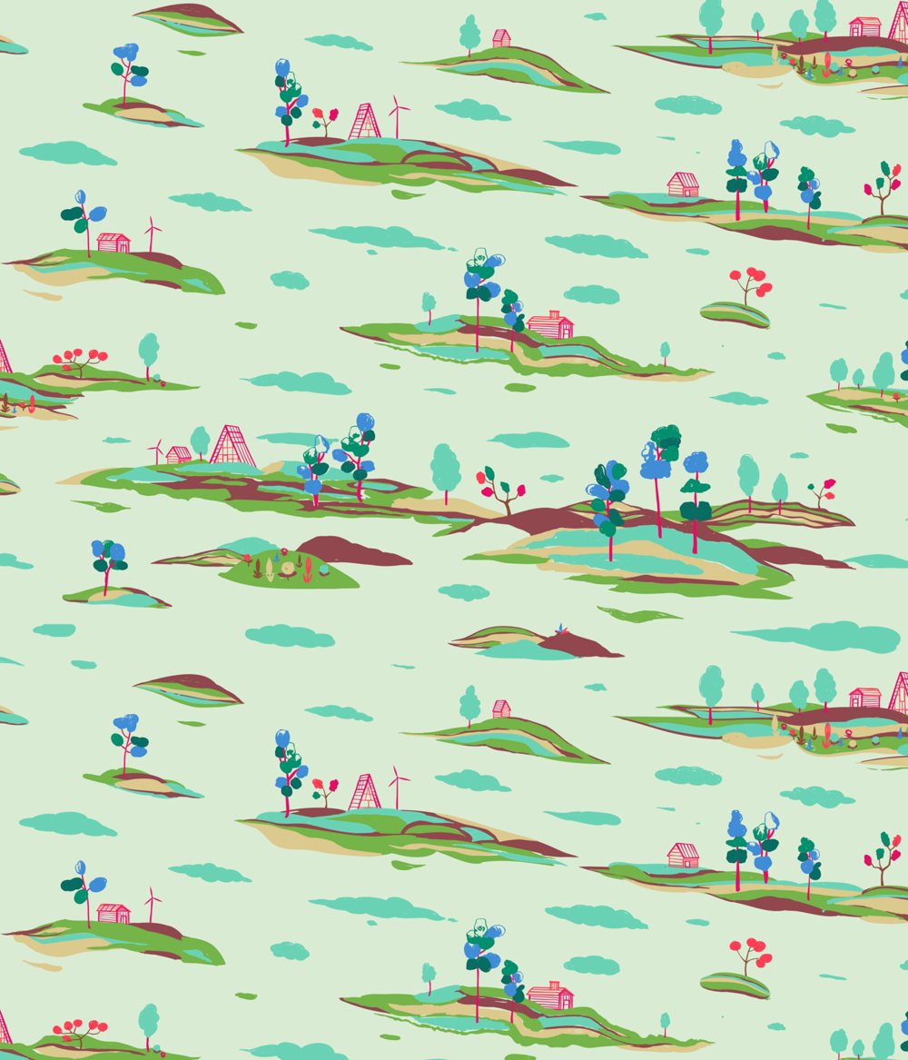Landscape Pattern. Purchase pillow at  Scout & Whistle.