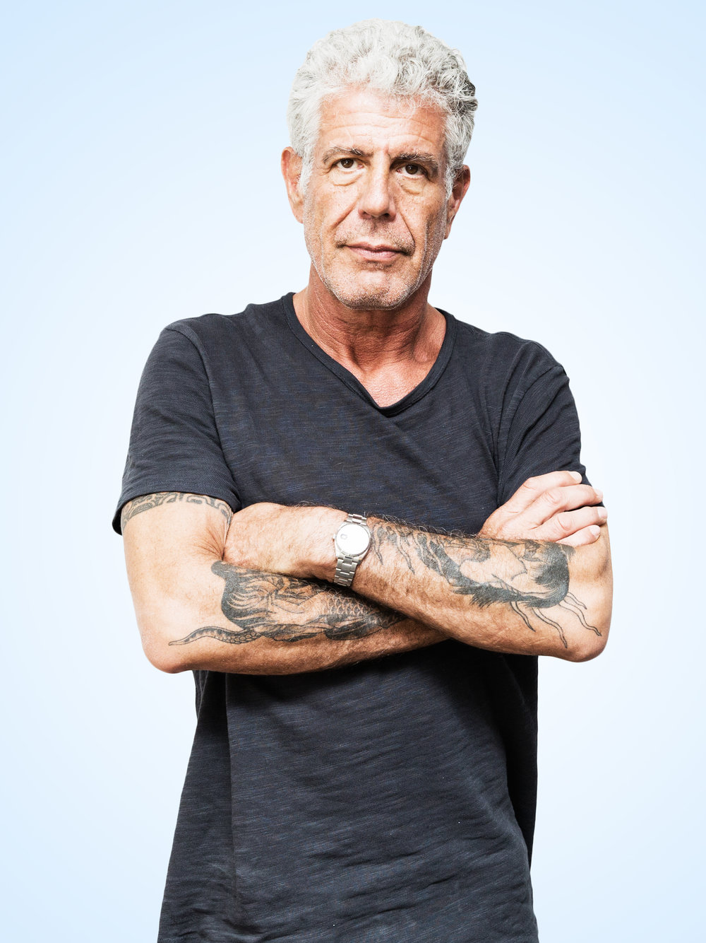 """Anthony Bourdain   Anthony Bourdain on Beer Snobs, Bad Food Trends, and """"Road House"""" for Thrillist.com  New York, NY"""