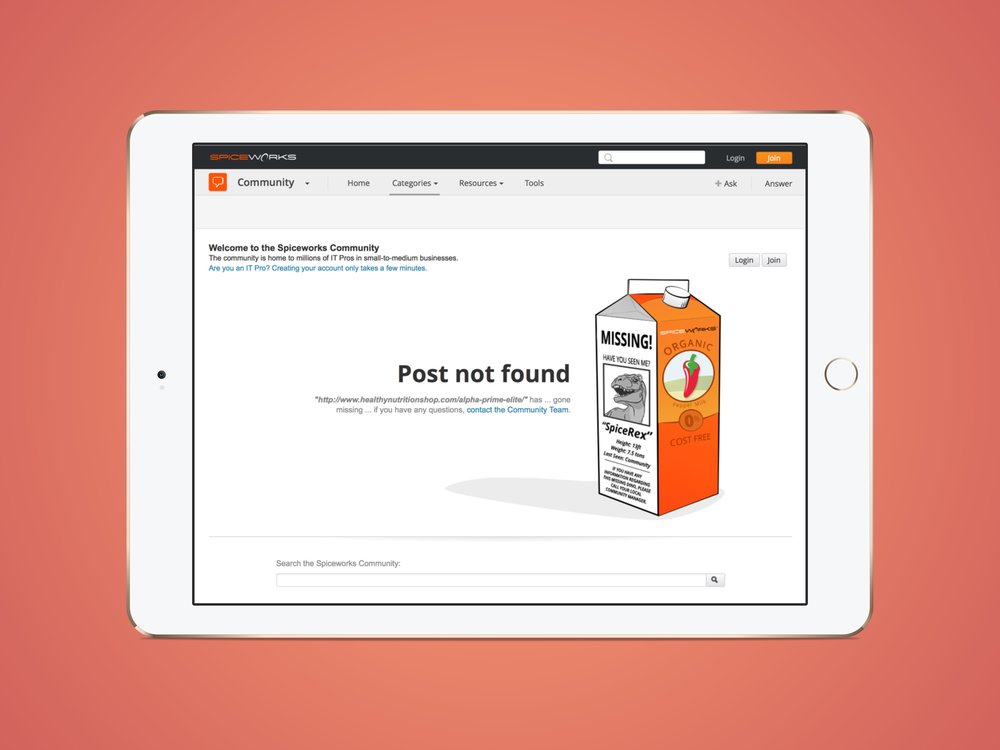Community 404 Page