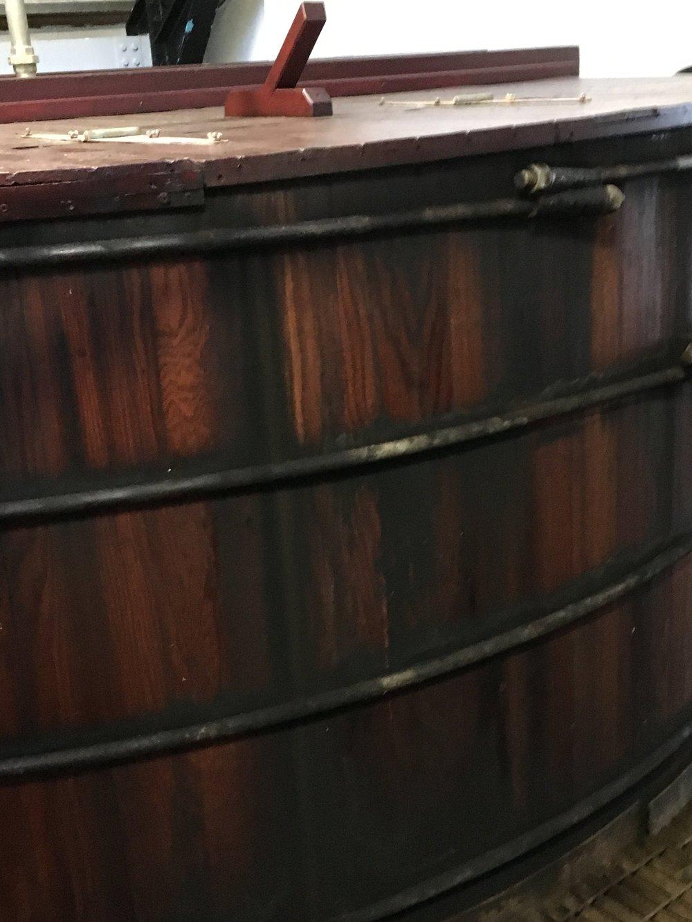 Wooden washback at Balblair (2017)
