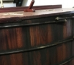 wooden washback tub at Balblair Distillery (JSW 2017)