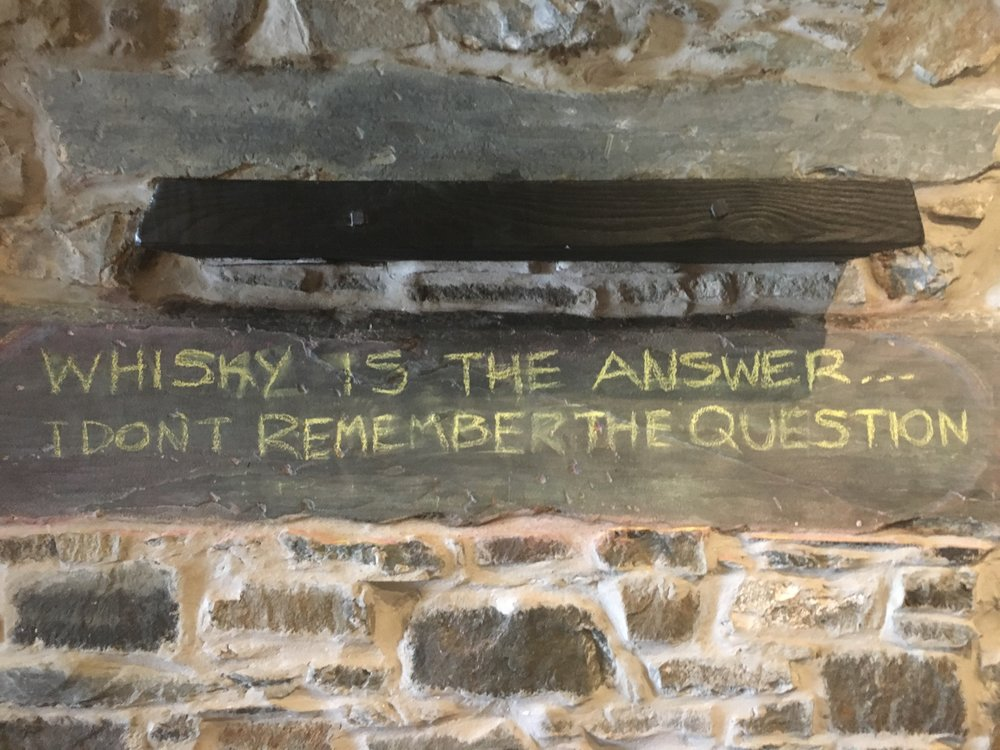 Whisky is the answer.  I don't remember the question.
