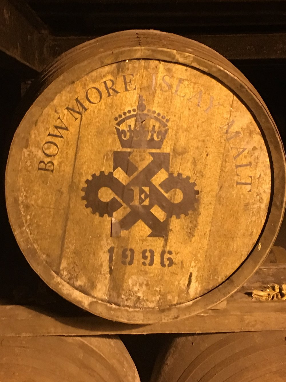 Maturing Cask at Bowmore Distillery
