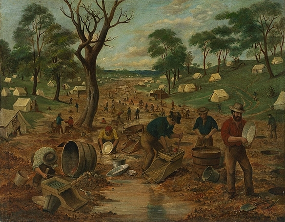 Gold Diggers in Australia (Edwin Stocqueler, 1855)