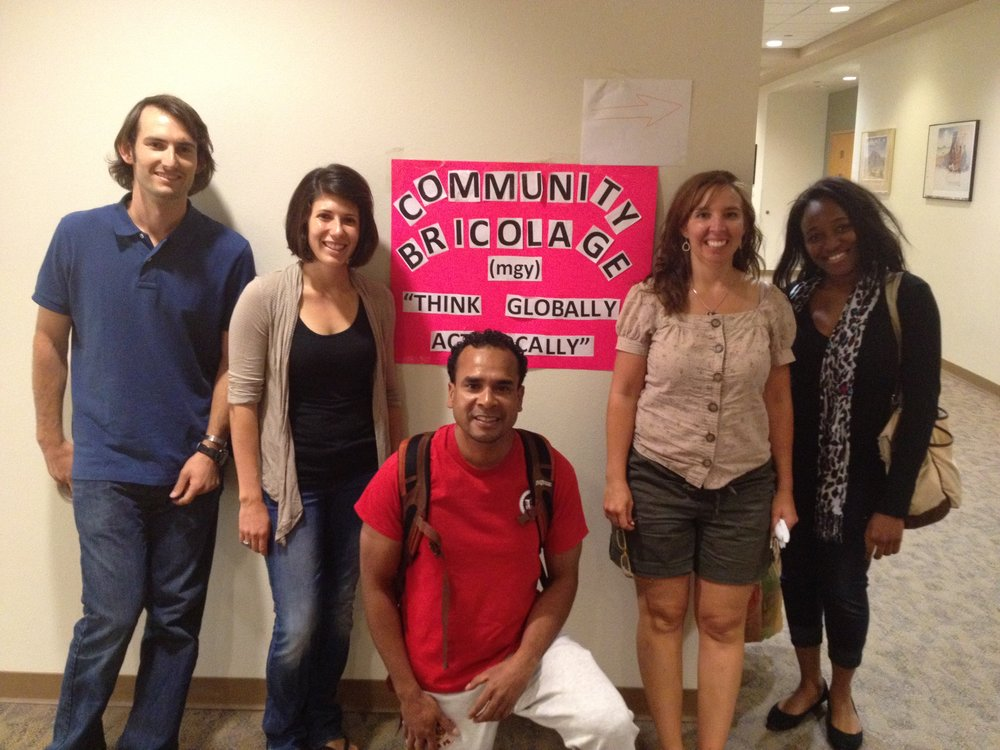 Daniel on far left with Community Bricolage Activist Group at the University of New Mexico