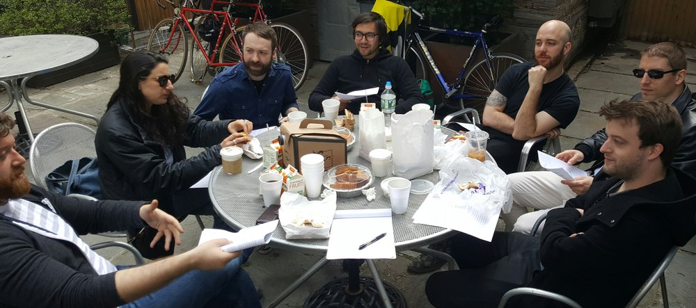 Anti-Gentrification and others break bread and plan our May action