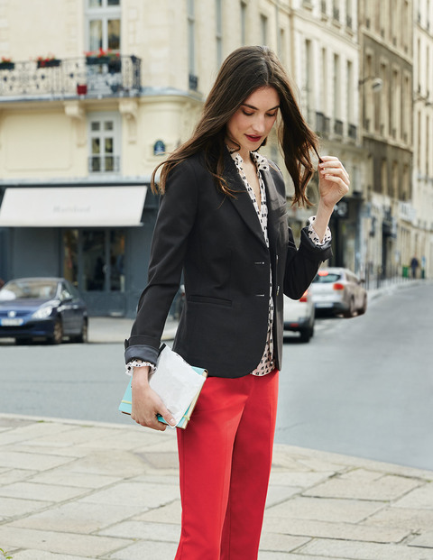 ELIZABETH PONTE BLAZER. Available in black, navy, red. Boden. Was: $150. Now: $75.